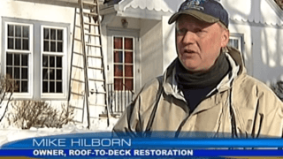 News segment on Ice Dams featuring Roof-to-Deck